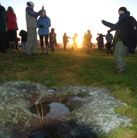 Celebrating  the Winter Solstice during managed open access